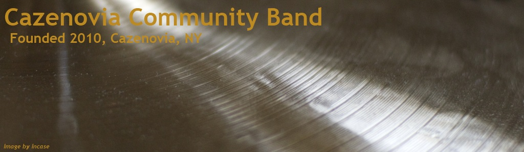 Cazenovia Community Band, Founded 2010, Cazenovia, NY